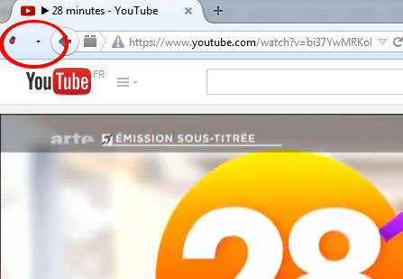 Icone Video DownloadHelper sous Firefox